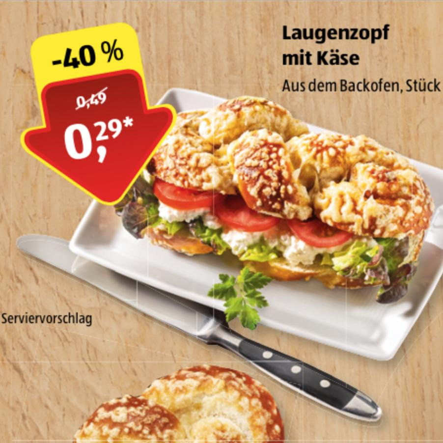 Laugenzopf mit Käse [ALDI Süd]