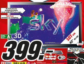 [lokal] LG42LM340 3D LED-TV mit Triple-Tuner für 399,- @ Media Markt Dorsten
