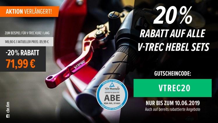 Motea: Weiterhin 20% auf V-Trec Hebelsets, 15% auf alle Zentralständer ( Motorrad )