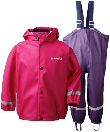 Didriksons Slaskeman Regenkleidung für Kinder, Warm Cerise  bei jollyroom +5,90€ Versand