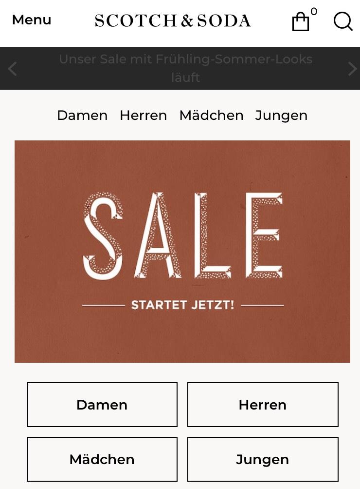 Scotch & Soda Sale - bis zu 50 % Rabatt - online und im Store