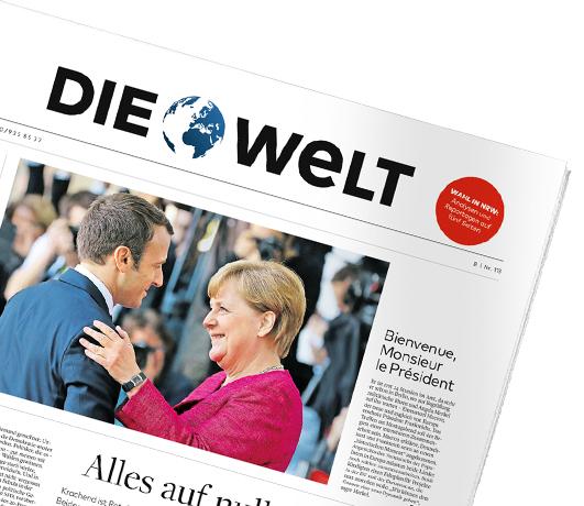 """""""Die Welt"""" mit 78 Ausgaben (3 Monate + 1) für 170,82€ – Prämie: 170,82€ Scheck"""