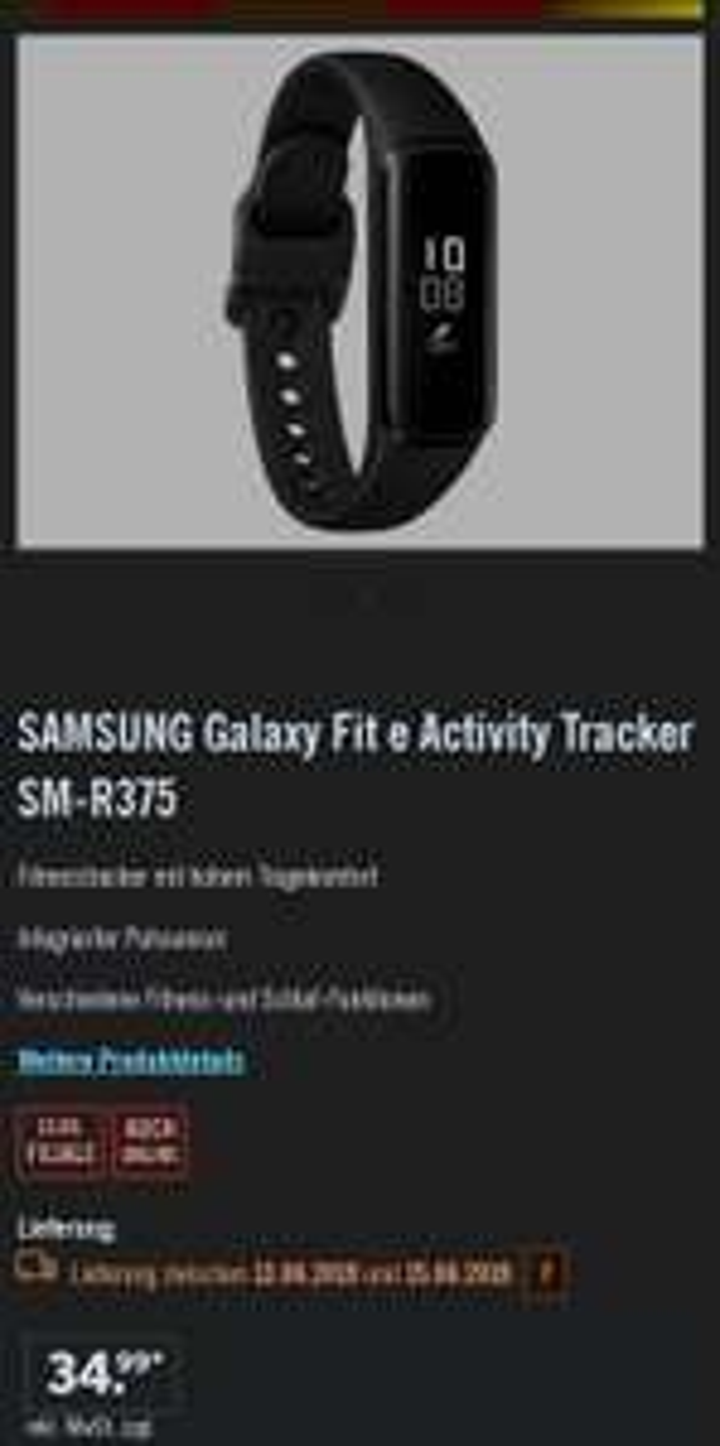 SAMSUNG Galaxy Fit e Activity Tracker SM-R375 [LIDL OFFLINE]