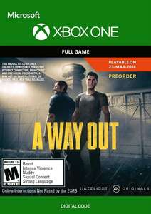 A Way Out (Xbox One) für 15€ (Xbox Store Live Gold)