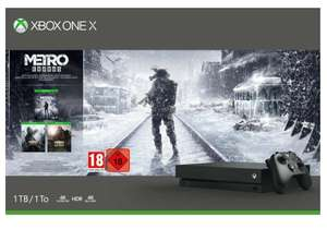 Xbox One X 1TB, schwarz Metro Exodus Saga Bundle // The Division 2 Bundle für 375,72€