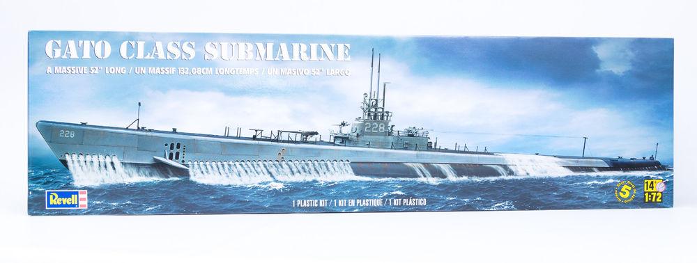 Revell 85039400100 - Gato Class Submarine U-Boot Maßstab 1:72 (Teile: 273 + 132,08 cm Länge)