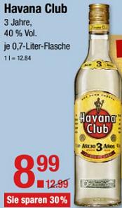 Havana Club für 8,99 €, Red Bull für 88 Ct  @ V-Märkte Muc/Oberbayern/Schwaben