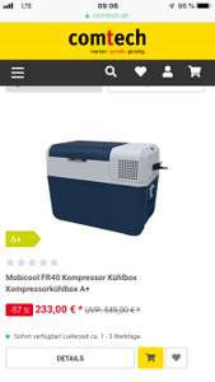 (Comtech) Kompressorkühlbox 12/24/220V - Mobicool FR40