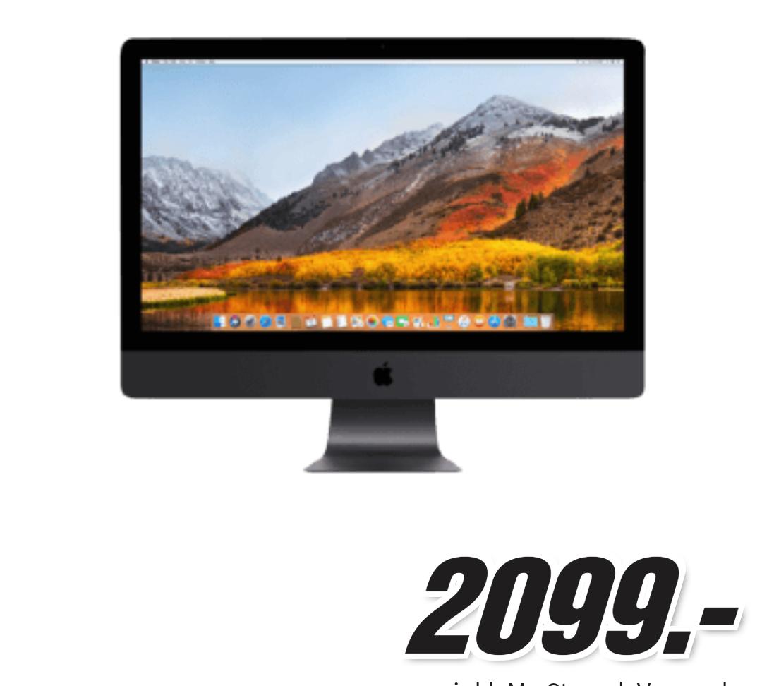 "[Preisfehler] Apple iMac Pro 27"" Xeon W 4TB SSD Vega64X bei Mediamarkt"