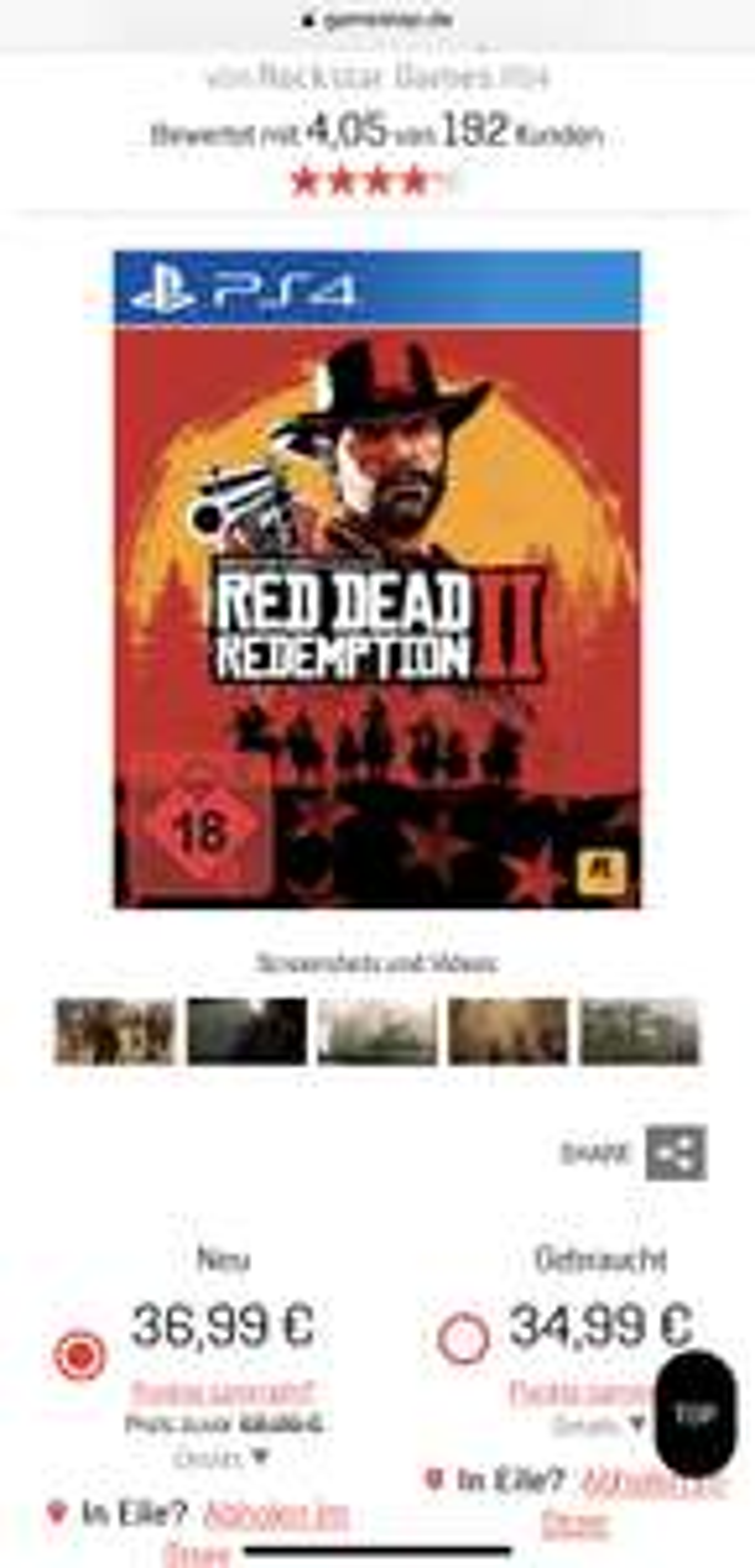 [Days of Play] Read Dead Redemption II [Gamestop lokal & online]
