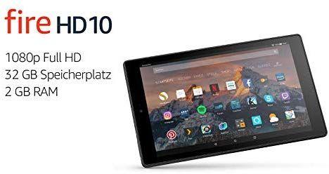 [Amazon] Fire HD 10-Tablet, 1080p Full HD-Display, 32 GB, Schwarz
