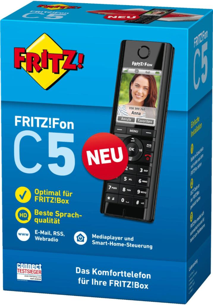 AVM FRITZ!Fon C5 DECT Telefon für 45,80€ inkl. Versandkosten