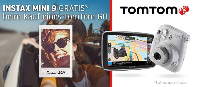 Amazon | TomTom GO Navi kaufen und Instax Mini 9 Sofortbildkamera kostenlos dazu bekommen