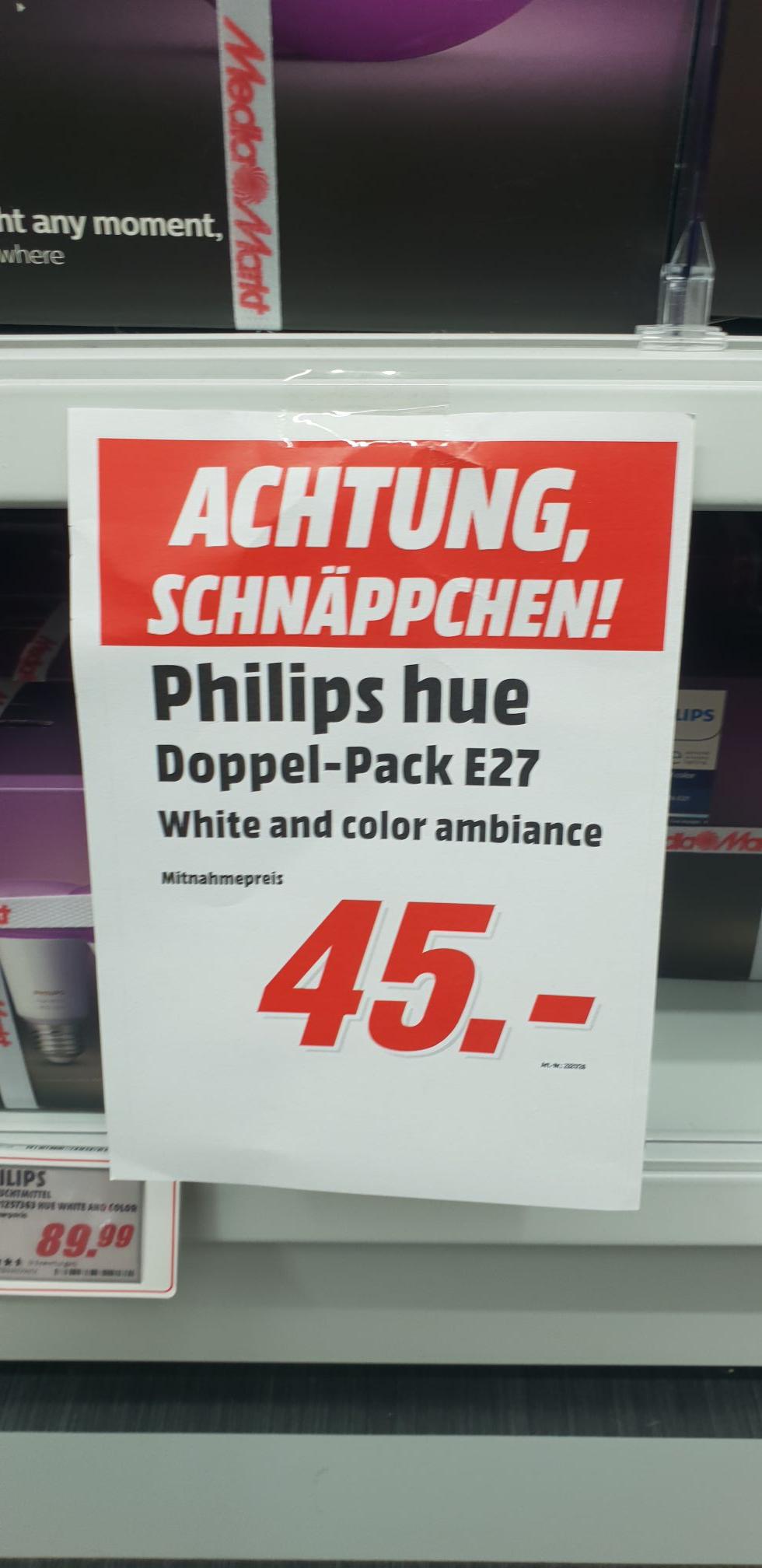 Philips Hue White and Color Doppelpack Lokal Mediamarkt Osnabrück/Belm