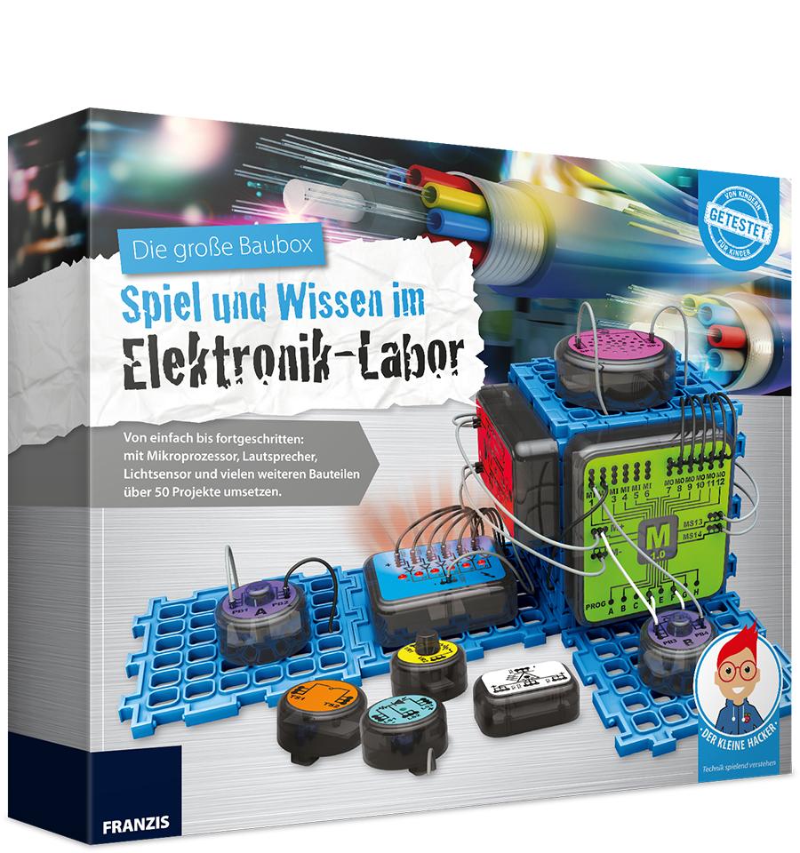 Die große Baubox - Spiel und Wissen im Elektronik-Labor von Franzis für Kinder