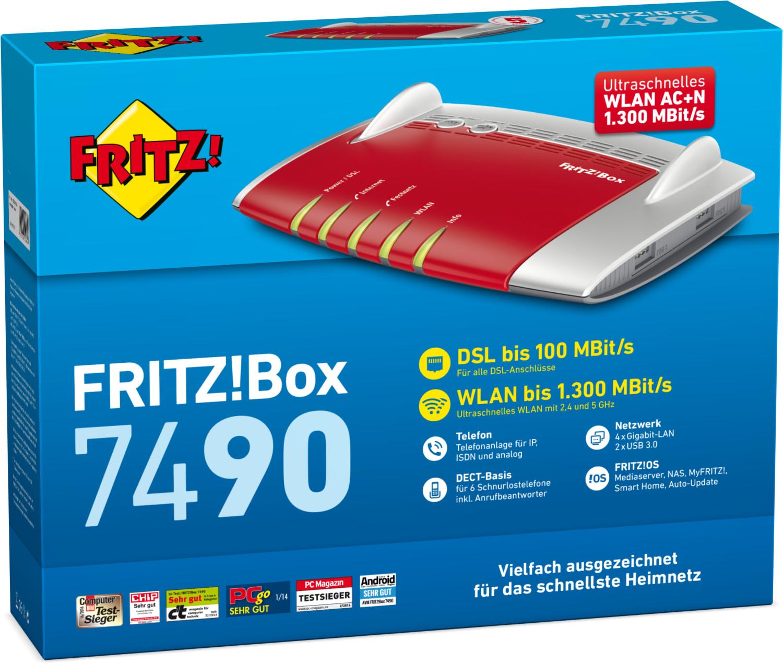 AVM FRITZ!Box 7490 für 127,80€ inkl. Versandkosten