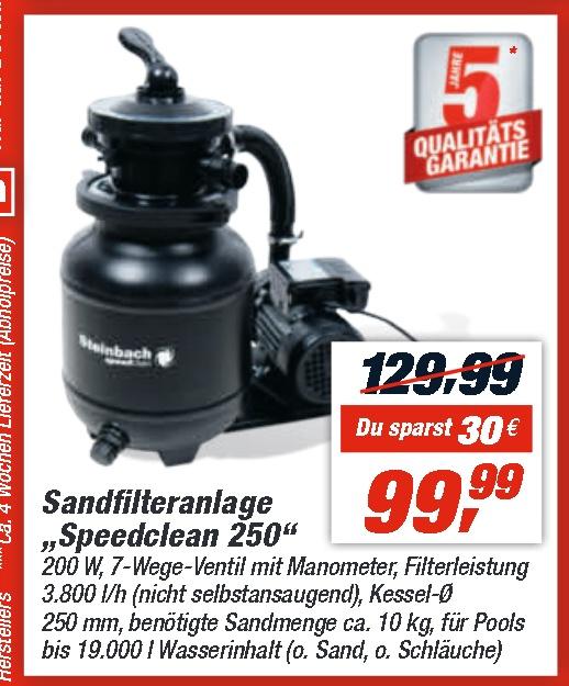 """(Lokal) Steinbach Sandfilteranlage """"Speed Clean Classic 250"""" ab 11.06.2019 @ toom Baumarkt [5 Jahre Garantie!!!]"""