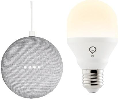Smart Home-Woche 2: Google Home Mini + LIFX Mini White Edison E27 für 49€ oder innogy SmartHome Paket Licht Starter Kit für 179€