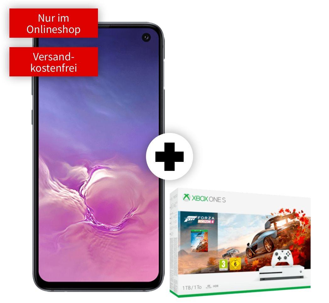 Samsung Galaxy S10e und Xbox One S Forza Bundle im Vodafone Debitel (6GB LTE, Allnet/SMS) mtl. 26,99€ einm. 49€