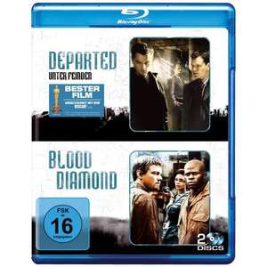 Departed - Unter Feinden & Blood Diamond (2 Discs) [Blu-ray] für 10,99 € @AMAZON.DE
