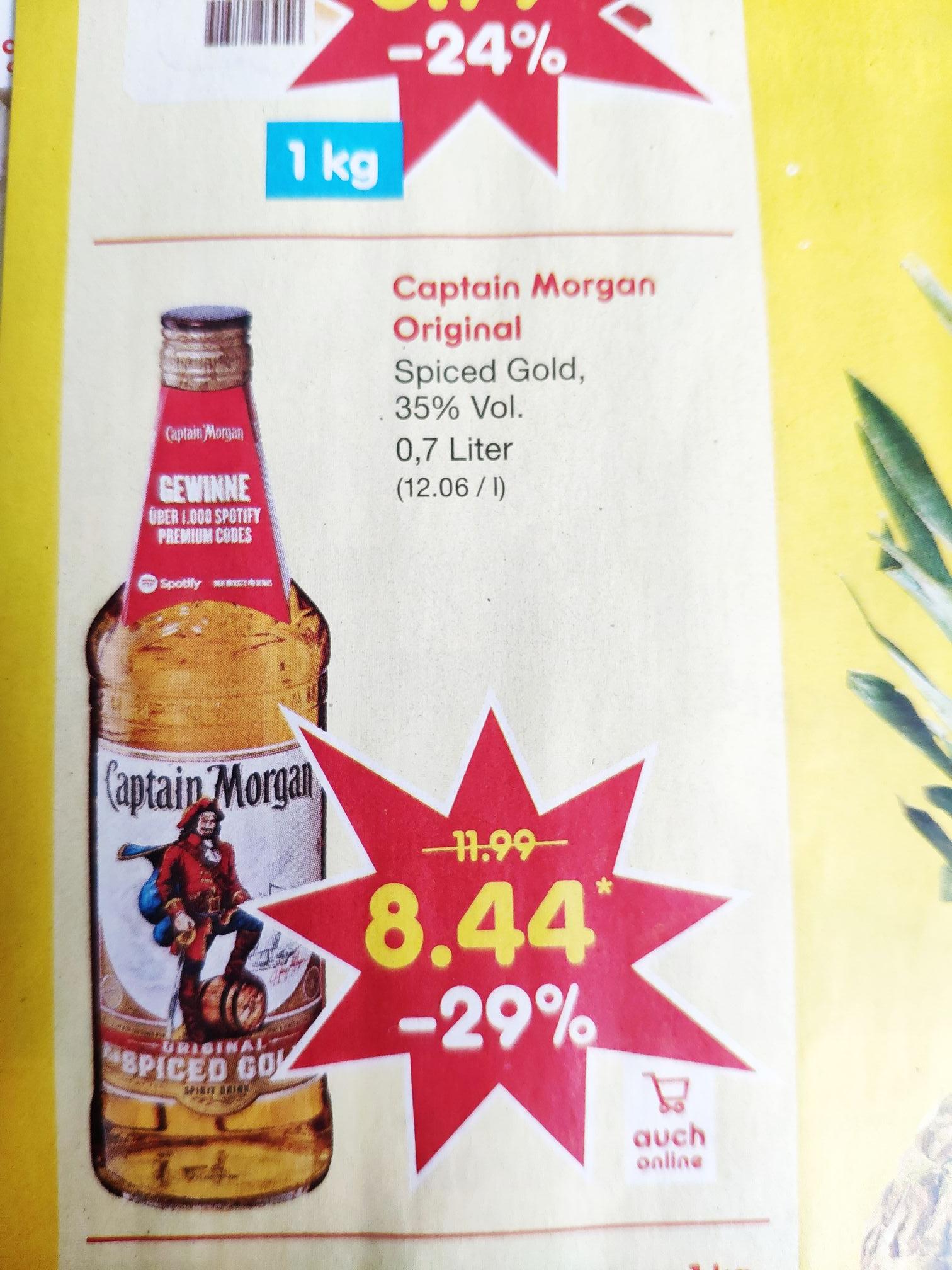 (Netto MD) Captain Morgan Spiced Gold 0,7l am 15.06