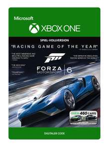 Forza Motorsport 6 (Xbox One Download Code) für 7,49€ & Ultimate Edition für 14,99€ (Xbox Store)
