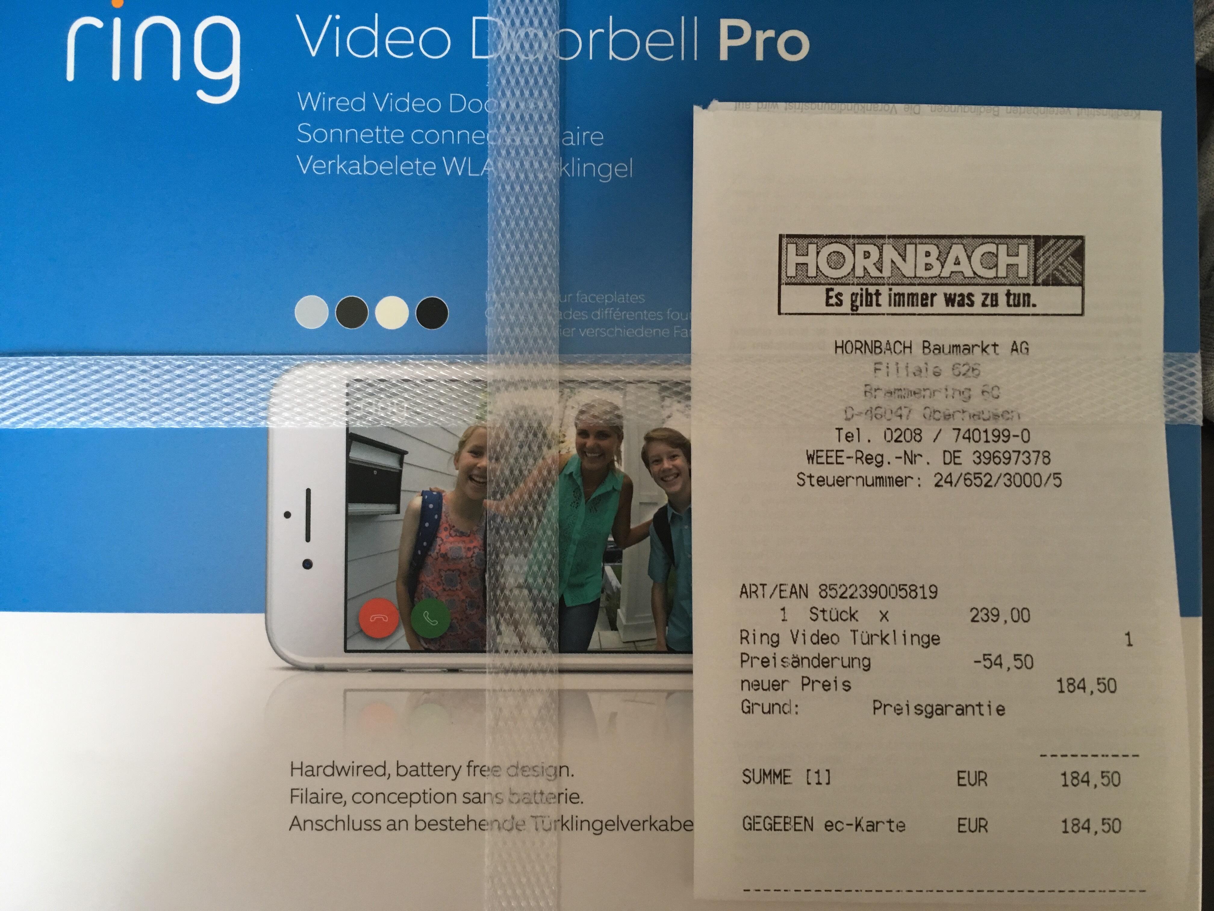 [Hornbach] Ring Doorbell Pro
