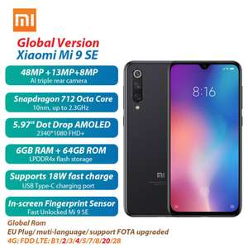 Xiaomi Mi 9 SE 6GB/64GB Snapdragon 712