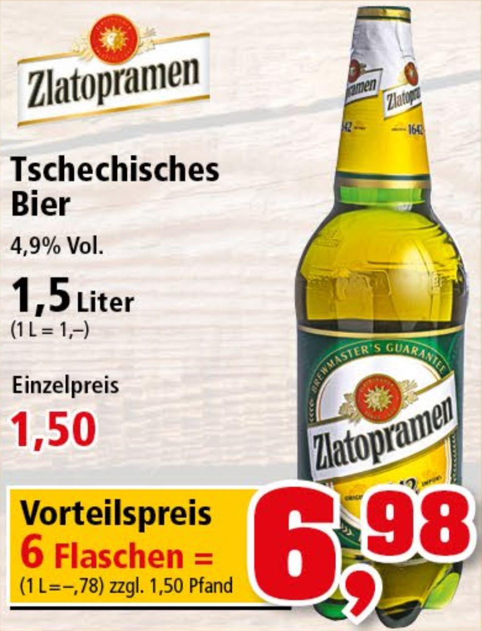 6 Flaschen à 1,5 Liter Zlatopramen Tschechisches Bier für 6,98€ (0,78€/L) ab 11.06. bei Thomas Philipps