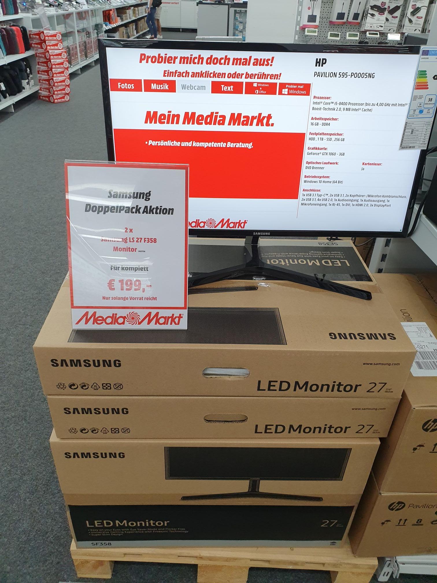 "Lokal Stuttgart  Samsung LS27 F358, 27"" Full HD, Freesync Monitor im Doppelpack"