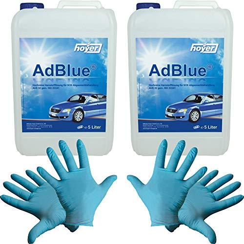 20 Liter AdBlue von Hoyer inklusive Befüllschlauch und 2 paar Einweg-Handschuhe von Engebert Strauss