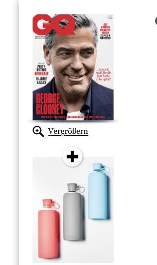 3 Ausgaben GQ + Doli Trinkflasche aus Glas mit Gummiüberzug