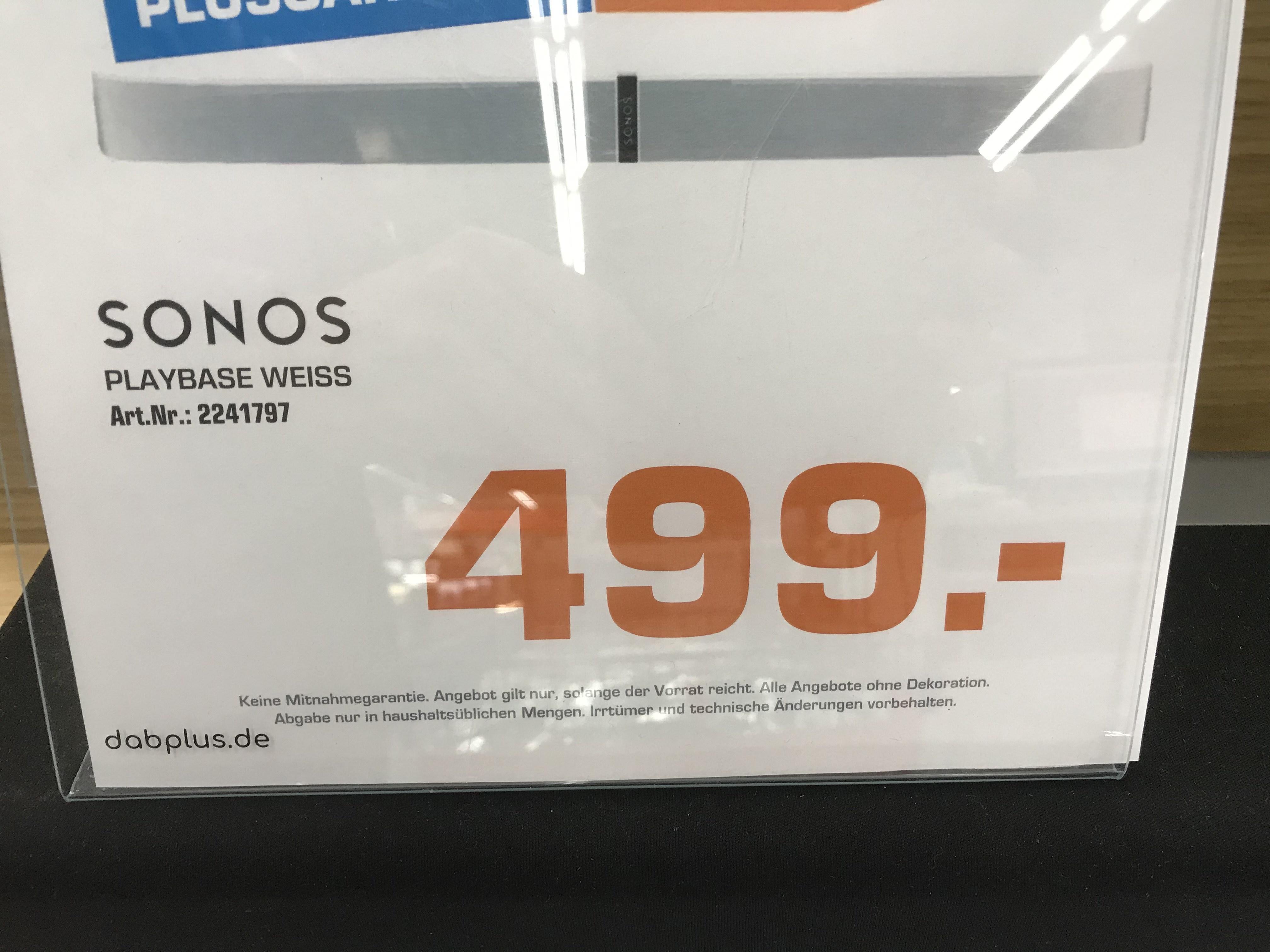 [Saturn Hilden] Sonos Playbase weiß für 499€ (100€ Cashback möglich)