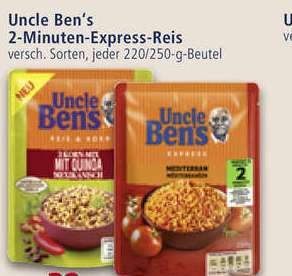 Uncle Ben's Express Reis mit Coupon 0,29€ ab Dienstag bei Real