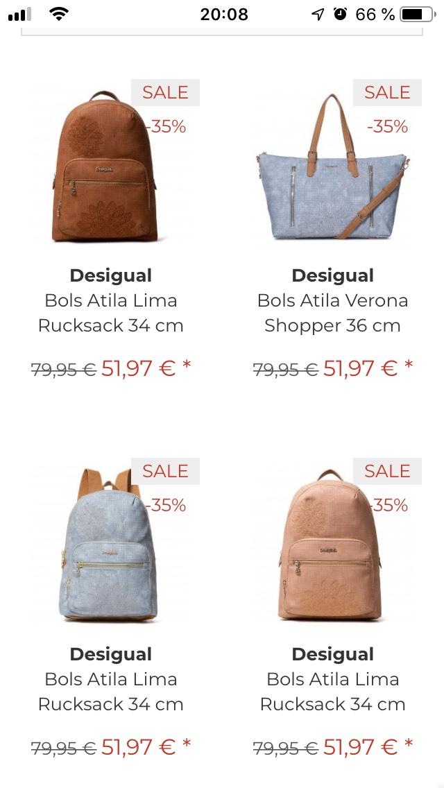 Bis zu 65% auf Desigual Handtaschen, Portmonees, Samsonite, Reisenthel, Dakine, Deuter und andere Marken