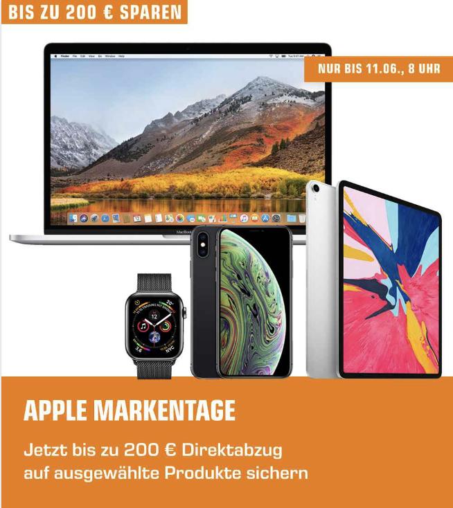 Apple Markentage bei Saturn: 30€ bis 200€ Direktabzug - z.B.  iPad Pro 11 2018 256GB für 879€ oder iPad Pro 2018 12.9 64GB für 925€