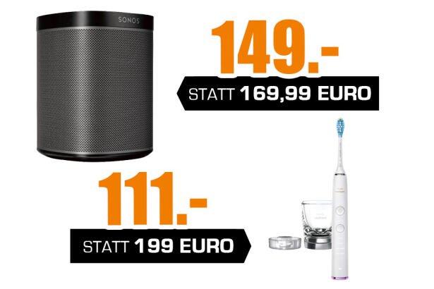 Lokal Saturn Dresden: PHILIPS HX 9901 Schallzahnbürste für 111€, Sonos Play 1 149€, Garmin Vivosmart 4 77€, JBL Charge 3 Stealth Edition 89€