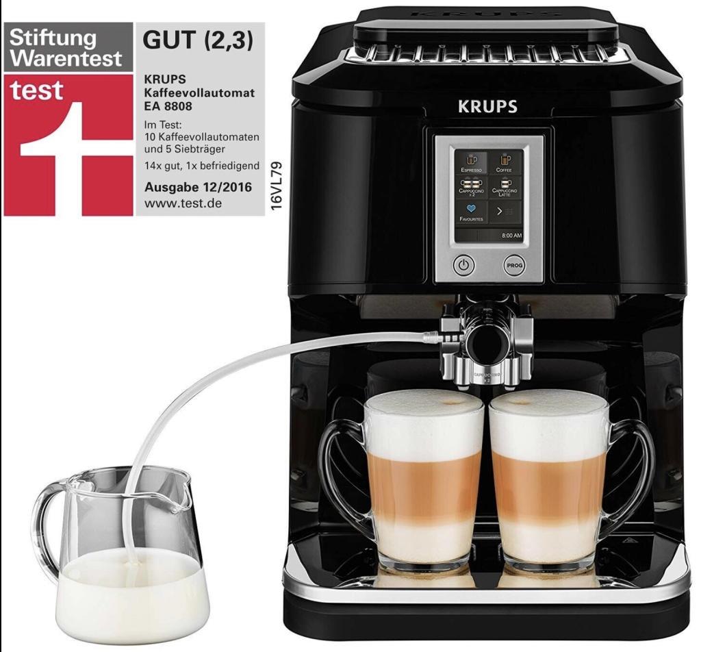 Krups EA8808 Kaffeevollautomat Two-in-One-Touch Funktion 15 bar für 289,90€ inkl. Versandkosten