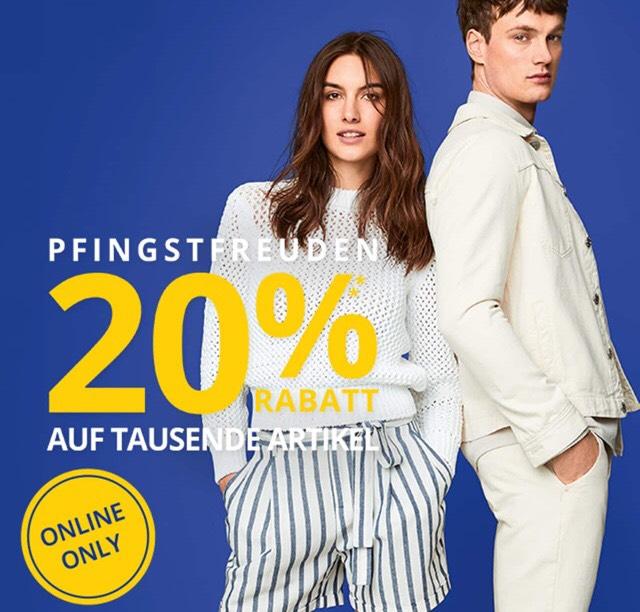 Peek&Cloppenburg 20% Rabatt auf tausende von Artikeln! - NUR ONLINE