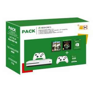 [Schweiz] Xbox One S Konsole - 1TB  + 2. Controller + The Division 2 + Sea Of Thieves + 50€ Xbox-Karte + 3 Monate Live Gold (Fnac.ch)