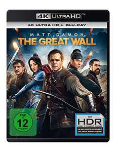 [Amazon] The Great Wall - 4K Ultra HD (4K Ultra HD Blu-ray + Blu-ray) für 19,97€ (Amazon Prime)