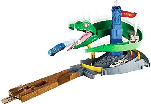 Hot Wheels FNB20 - City Kobra Angriff Set, großes Spielset mit Schlange inkl. 1 Spielzeugauto bei Amazon & Galeria Kaufhof