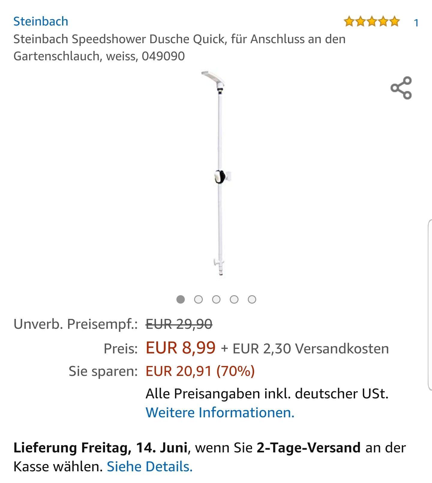 Steinbach Speedshower Quick, Gartendusche, Pool