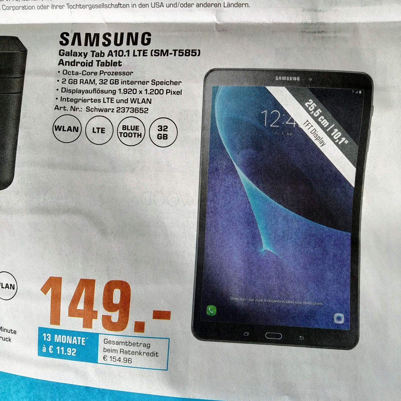 (Lokal Saturn Bremen) Samsung Galaxy Tab A 10.1 SM-T585 32GB LTE