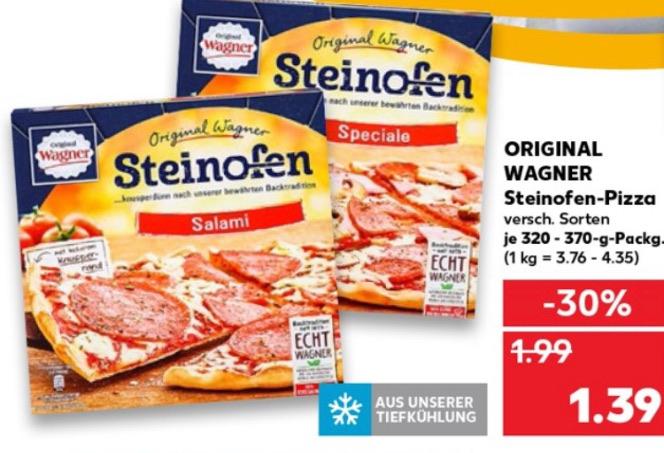 Kaufland Wagner Steinofen-Pizza 1,39€