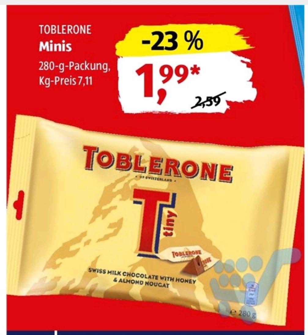 [Aldi Süd] Toblerone Minis 35x8g für 1,99€ ab 11.06. (7,11€/kg)
