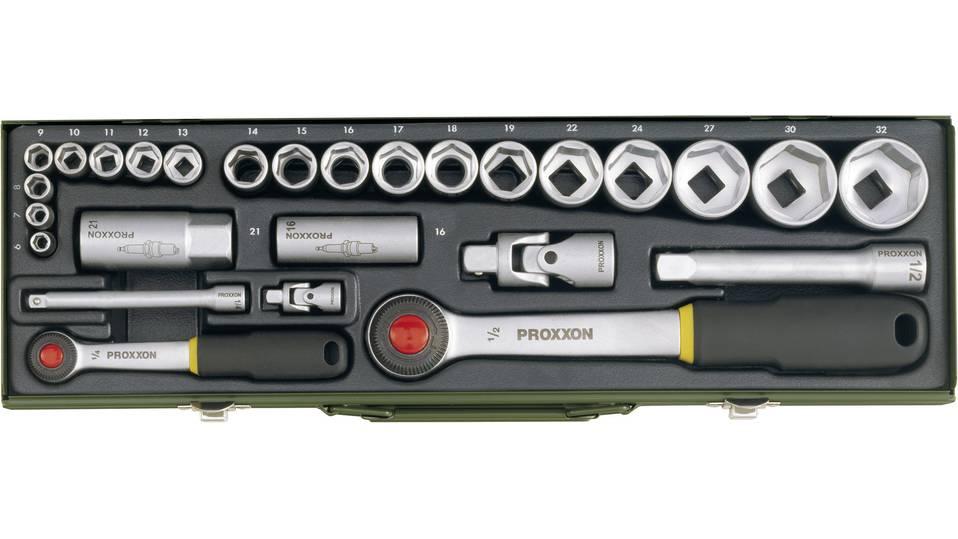 """Proxxon Industrial Steckschlüsselsatz metrisch 1/4"""" + 1/2"""" 27teilig für 42,80€ [Voelkner]"""