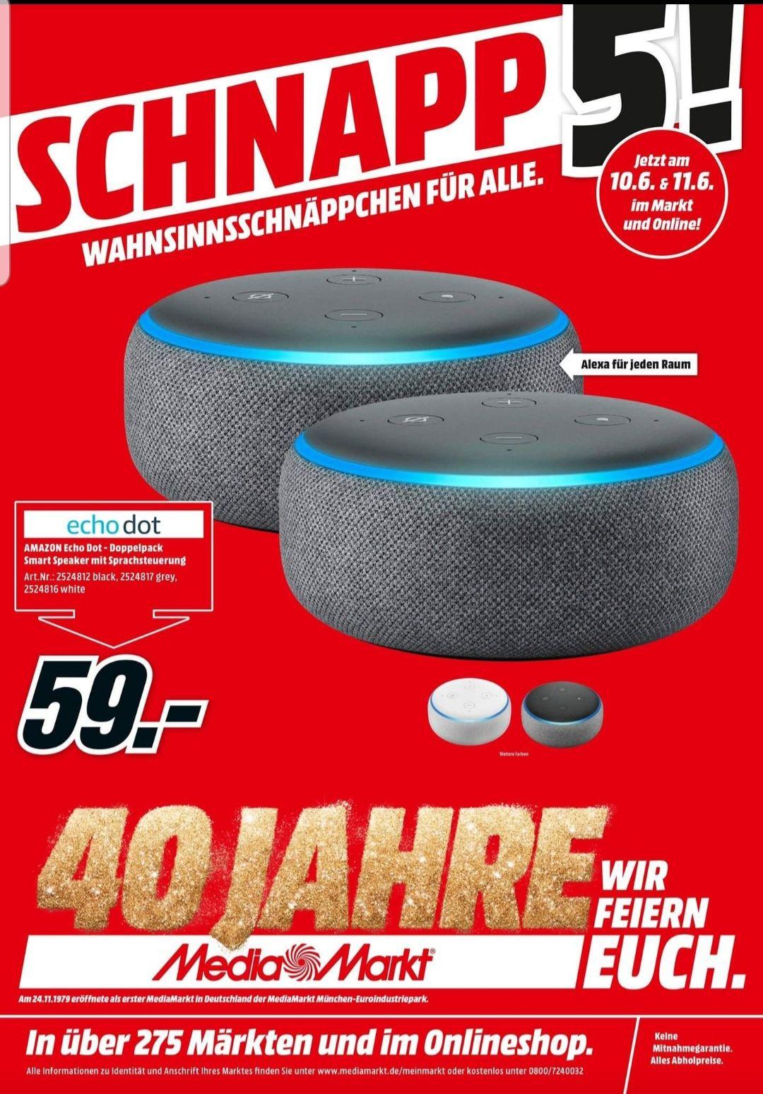 2 Echo dot 3 im Doppelpack für 59€