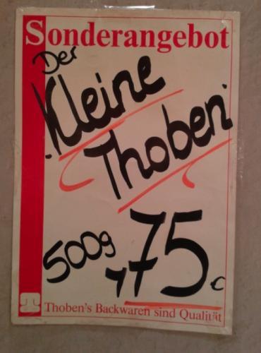 (Lokal Berlin)  Der kleine Thoben 500gr. ( leckeres Krustenbrot ) 75 cent die Woche anstatt 1,20€ oder 1.40€