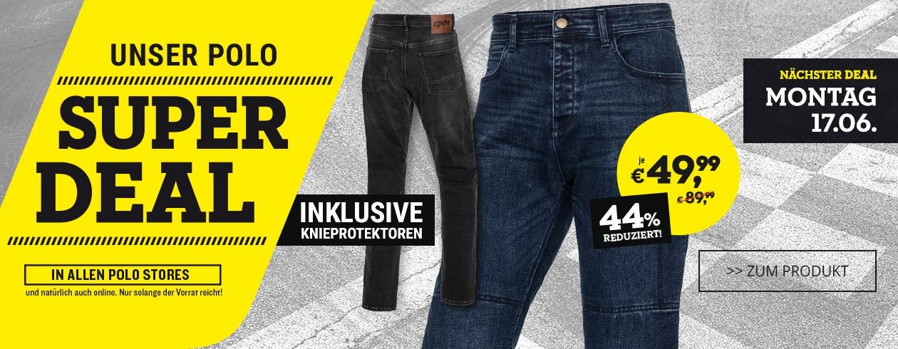 Polo Motorrad: DXR Aramid Jeans durch Rabattkombi noch günstiger (Super Deal + Pfingsten)